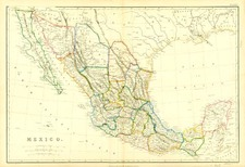 Southwest and Mexico Map By Blackie & Son