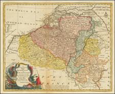 Belgium Map By Emanuel Bowen
