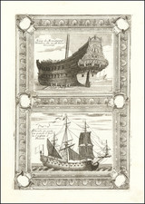 Netherlands and Curiosities Map By Vincenzo Maria Coronelli