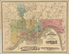 Ohio Map By C.S. Mendenhall
