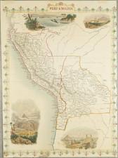 Paraguay & Bolivia and Peru & Ecuador Map By John Tallis