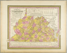 A New Map of Virginia with its Canals, Roads & Distances from Place to Place, along the Stage & Steam Boat Routes . . . 1847 By Samuel Augustus Mitchell