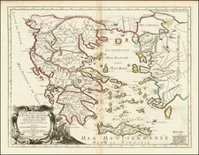 Turkey and Greece Map By Pierre Mariette / Nicolas Sanson