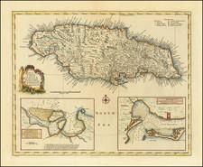Jamaica Map By Emanuel Bowen