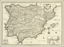 Spain and Portugal Map By Christopher Tassin / Pierre Mariette