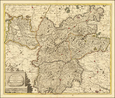 Austria and Northern Italy Map By Gerard Valk