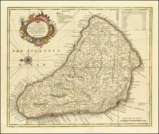 Caribbean Map By Emanuel Bowen