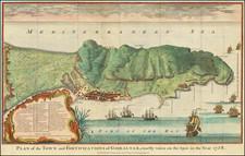 Gibraltar Map By Paul de Rapin de Thoyras / James Basire