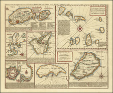 Malta and African Islands, including Madagascar Map By Emanuel Bowen