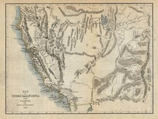 Southwest, Rocky Mountains and California Map By Charles Wilkes / U.S.Ex.Ex.