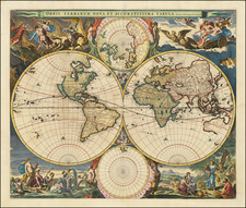 World Map By Nicolaes Visscher I