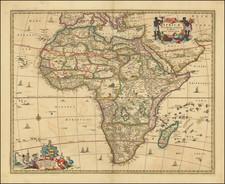Africa Map By Nicolaes Visscher I