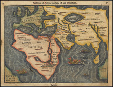 Eastern Hemisphere, Europe, Asia, Africa and Australia Map By Heinrich Bunting