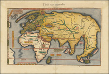 Diefert Situs Orbis Hydrographorum ab eo quem Ptolomeus Posuit By Lorenz Fries