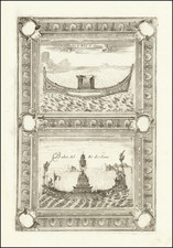 Curiosities Map By Vincenzo Maria Coronelli