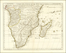 South Africa Map By Guillaume De L'Isle  &  Philippe Buache