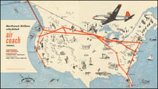 United States Map By Northwest Airlines