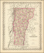 Vermont Map By G.W.  & C.B. Colton