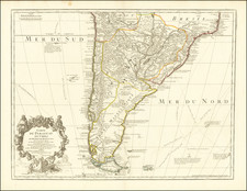 Argentina, Chile, Paraguay & Bolivia and Uruguay Map By Guillaume De L'Isle / Philippe Buache