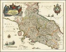 Stato Della Chiesa Con la Toscana . . .  By Matthaus Merian
