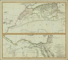 North Africa Map By Iohann Matthias Christoph Reinecke