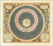 Western Hemisphere, Southern Hemisphere and Celestial Maps Map By Andreas Cellarius