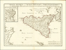 Sicily Map By Philippe Buache