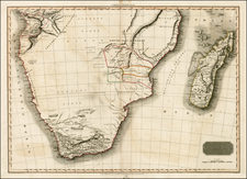 South Africa Map By John Pinkerton