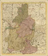 Süddeutschland Map By Gerard & Leonard Valk