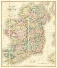 Ireland Map By G.F. Cruchley