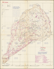 Japan and World War II Map By Intelligence Section, Amphibious Forces Pacific