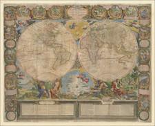World Map By Jean-Baptiste Nolin / Jean-Baptiste Crepy