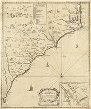 Southeast, North Carolina and South Carolina Map By George Willdey