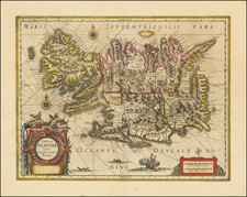 Iceland Map By Jodocus Hondius