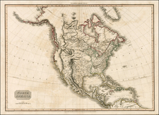 North America Map By John Pinkerton