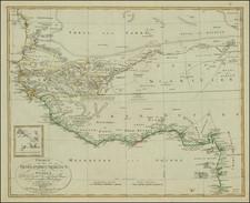 West Africa Map By Christian Gottlieb Reichard