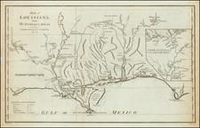 Louisiana, Alabama and Mississippi Map By John Harrison / Thomas Bowen