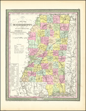 Mississippi Map By Thomas, Cowperthwait & Co.