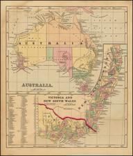 Australia Map By Sidney Morse