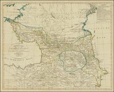 Russia, Ukraine, Central Asia & Caucasus and Turkey & Asia Minor Map By Iohann Matthias Christoph Reinecke