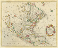 North America and California as an Island Map By Richard William Seale