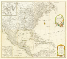 North America Map By Franz Anton Schraembl