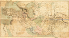 India, Central Asia & Caucasus, Middle East, Holy Land, Persia & Iraq and Turkey & Asia Minor Map By