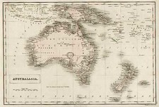 Australia & Oceania, Australia, Oceania, New Zealand and Other Pacific Islands Map By Adam & Charles Black