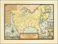 United States, New York State and Pictorial Maps Map By Daniel K. Wallingford