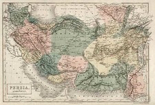 Asia, Central Asia & Caucasus and Middle East Map By Adam & Charles Black