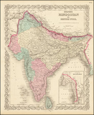India Map By G.W.  & C.B. Colton