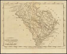 South Carolina Map By Mathew Carey