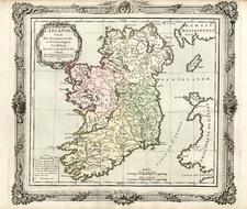 Europe and British Isles Map By Louis Brion de la Tour