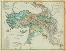 Cyprus, Middle East, Holy Land and Turkey & Asia Minor Map By Christian Gottlieb Reichard